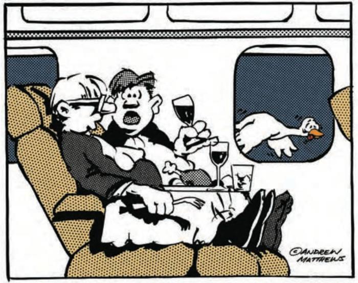 """""""Chuyến bay tuyệt vời thế này mà anh cũng bị kiệt sức cơ đấy!"""""""