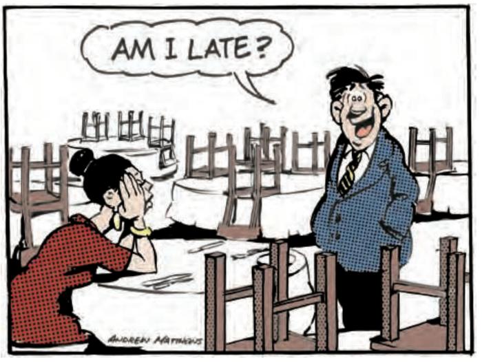 """""""Anh đến trễ à?"""""""